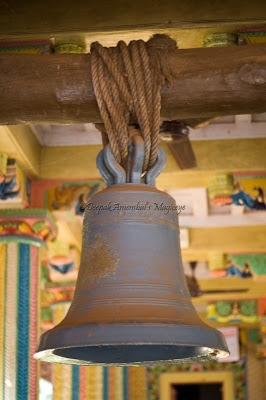 Church bell from Vasai fort at Durga Devi temple, Murud